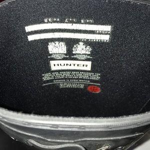 Size 7 matte black hunter boots